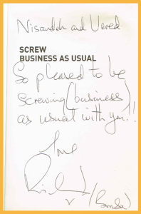 Screw Business As Usual Book